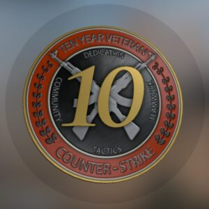 медаль 10 лет службы кс го