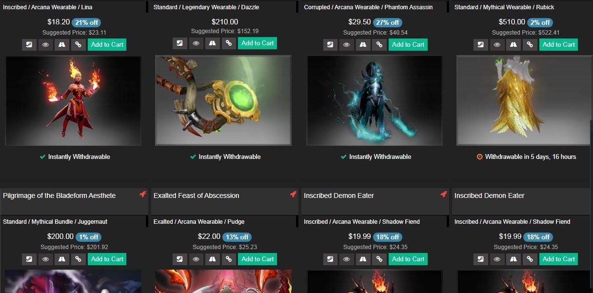 Где продать вещи из Dota 2? 5 сайтов
