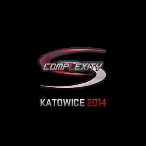 Наклейка Complexity Gaming Holo Katowice 2014 кс го