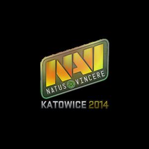 Наклейка Natus Vincere Holo Katowice 2014 кс го