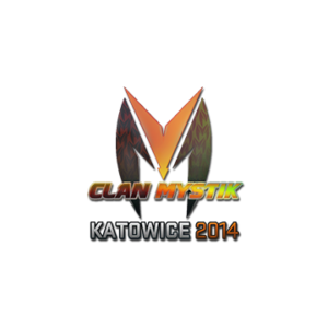 Наклейка Clan Mystik Holo Katowice 2014 кс го