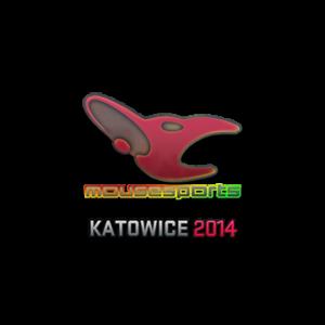 Наклейка mousesports Holo Katowice 2014 кс го