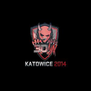 Наклейка 3DMAX Holo Katowice 2014 кс го