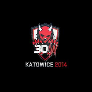 Наклейка 3DMAX Katowice 2014 кс го