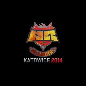 Наклейка Hellraisers Holo Katowice 2014 кс го